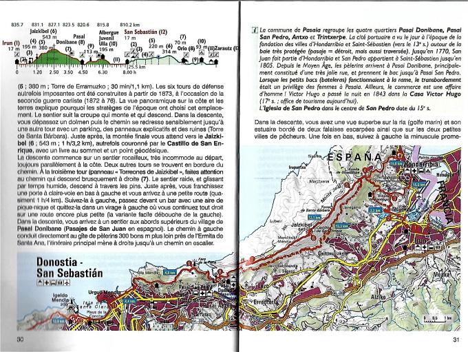 Profil et trace étape guide CN