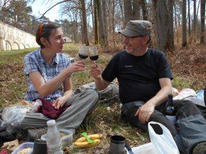 randonneurs en pique-nique et trekking