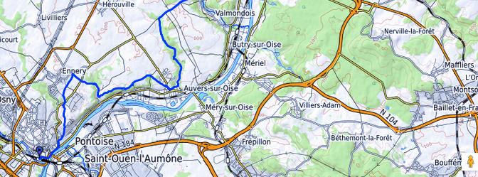 Tour IDF sur le GR1  –  Etape n° 7 – Rando sprint de Pontoise à l'Isle-Adam