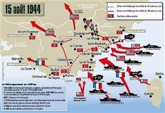 débarquement allié en Provence en été 1944