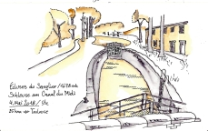 Ecluse sur le Canal du Midi