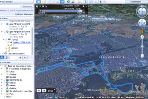 vue 3D rando google earth